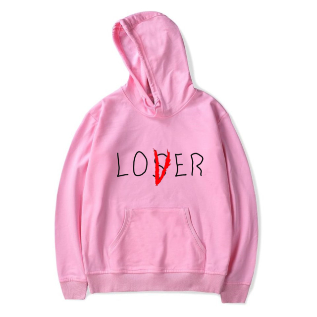 Lover Loser Printed Hoodys Hoodie Vintage Vogue Ullzang Mens Hodies Autumn Winter Hoodies Sweatshirt Fleece Street for Women Men