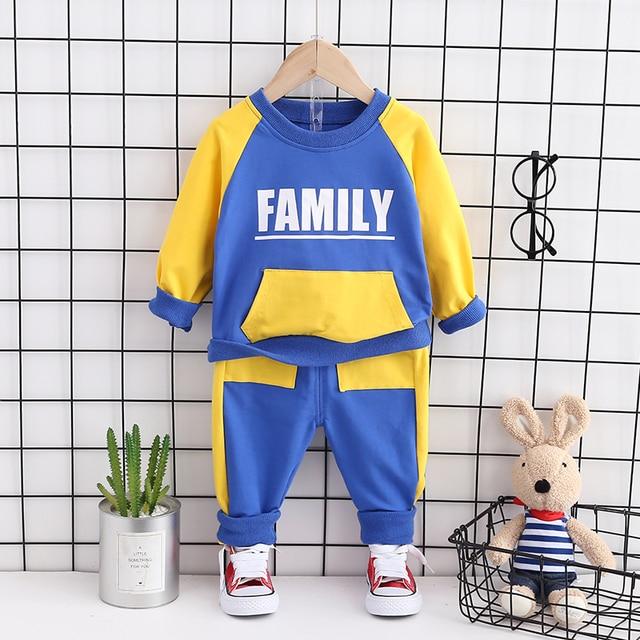 Модная детская весенне осенняя хлопковая одежда для маленьких