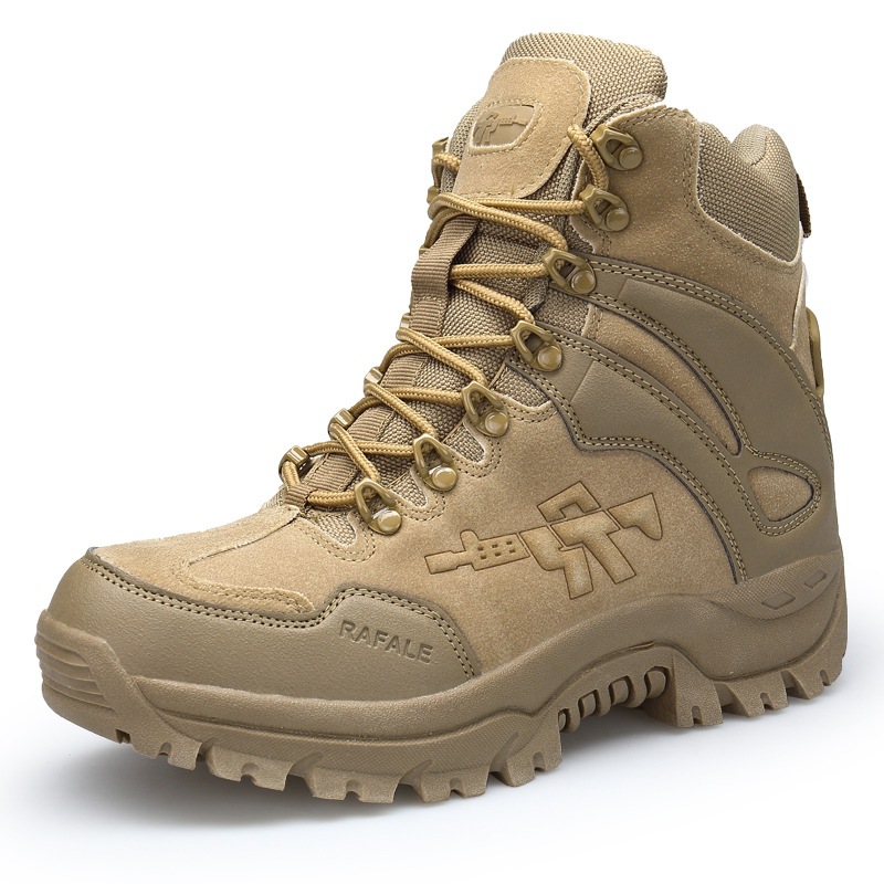 Manufacturers Direct Selling Autumn New Style Large Size Army Fans Outdoor Climbing Boots Anti-slip Workstations Boots Tactical