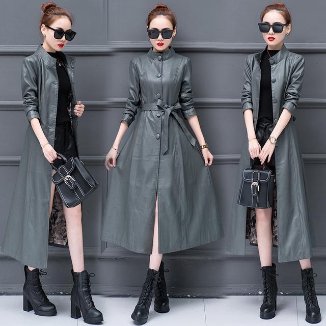 2020 New Leather Jacket Women Coat