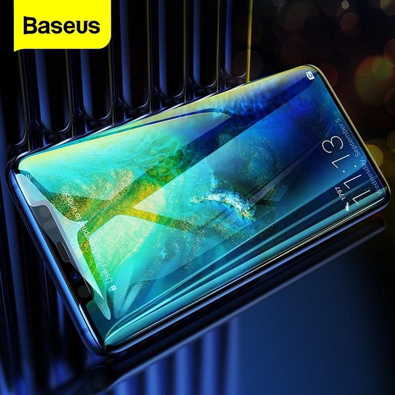 Baseus 0.3mm מגן מסך זכוכית מחוסמת עבור Huawei Mate 20 פרו מלא כיסוי מעוקל משוריינת זכוכית סרט עבור Huawei mate20-במגני מסך לטלפון מתוך טלפונים סלולריים ותקשורת באתר