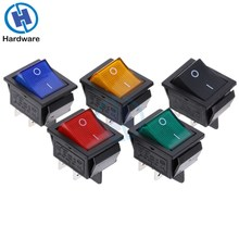 ON-OFF Latching Rocker Switch Power Switch 4 Pin DPST with Light 16A 250VAC 20A 125VAC KCD2