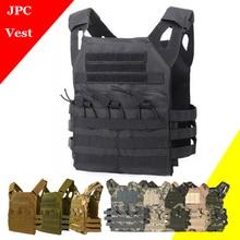 Regolabile JPC Tactical Vest Molle Della Maglia Esterna di Caccia di Airsoft Paintball Molle Vest Con Petto di Protezione Portante del Piatto di Maglia