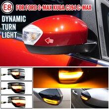 2 uds llevó espejo luz de indicador para Ford S Max 07 14 Kuga C394 08 12 C Max 11 19 señal de giro fluctuante intermitente lámpara