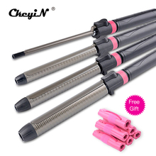 9mm/32mm Titanium Hair Curler Curling Wand Iron Rotatable Hair Styler Wet&Dry Tongs Curly Hair Styling Tools Temperature Adust