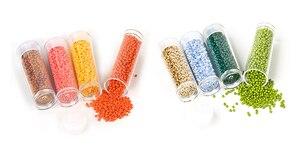 Atacado 2mm grânulos de vidro checa diy grânulo redondo para pulseiras contas de semente para crianças