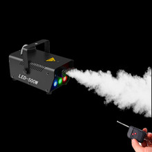 Dj Led Fogger/Led Fog Machine Voor Disco Home Party Show/Draadloze Afstandsbediening Draagbare 500W Rook machine Met Rgb Led Verlichting