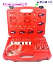 Diesel común inyector para riel medidor de flujo con 24 adaptadores de línea de combustible prueba probador/herramienta de diagnóstico 6 inyectores prueba juntos
