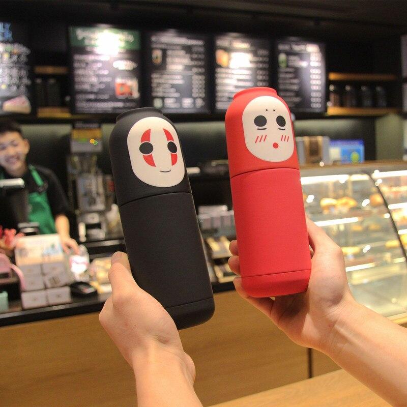 Faceless erkek vakum bardak ofis yalıtımlı şişe sevimli termos içme bardağı taşınabilir paslanmaz çelik termo kahve kupa 300ml
