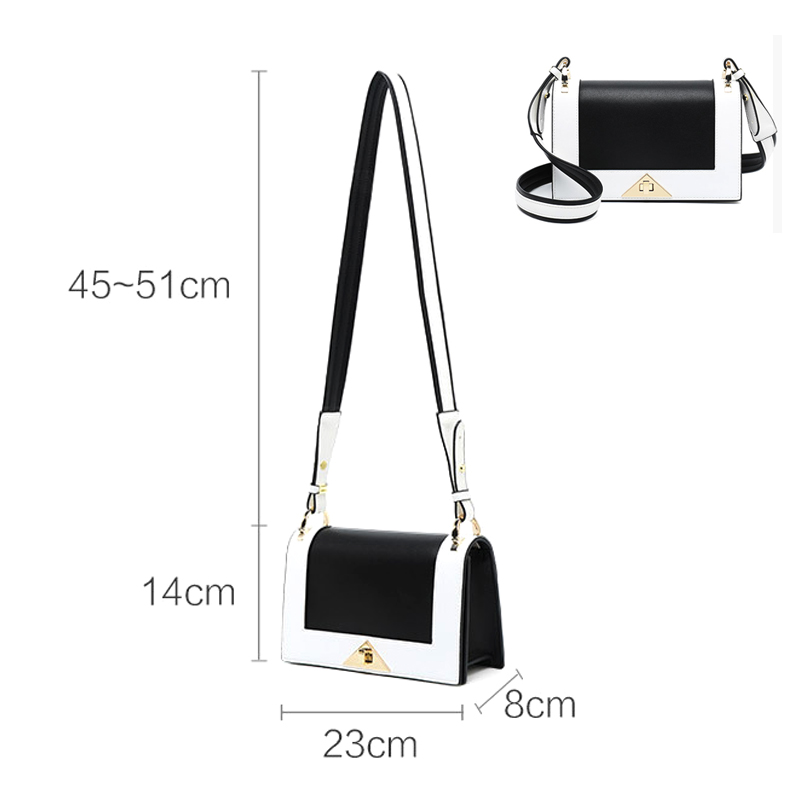 Women Black and White Shoulder Bags Famous Brand Ladies Luxury Handbags Women's Shoulder Bags
