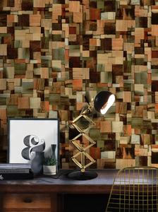 Image 4 - 45 センチメートル * 6 メートルヴィンテージフェイク木材の壁紙ビニール自己接着壁紙 3d リビングルームのためのデスク壁の装飾