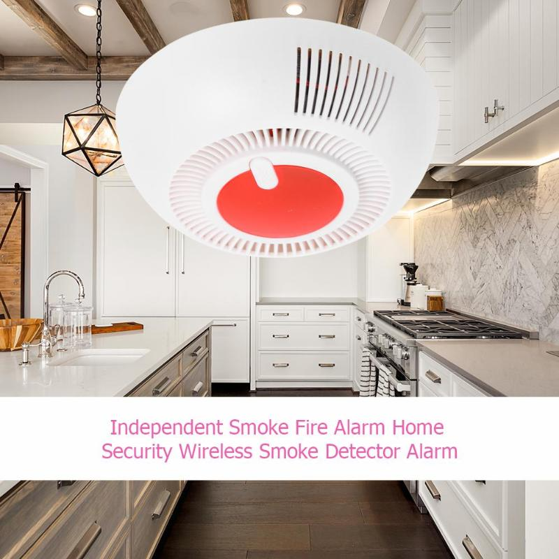 Independent Smoke Fire Alarm Home Security Wireless Smoke Detector Sensor Alarm Battery Low Voltage Prompt Automatic Reset