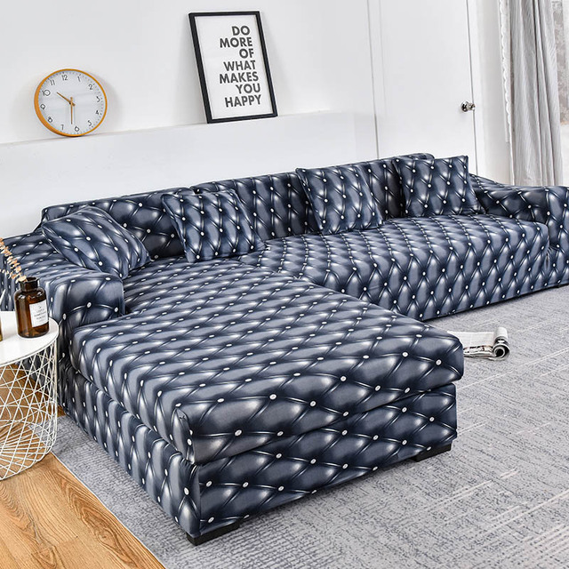 مرونة منقوشة أريكة يغطي لغرفة المعيشة تحتاج الطلب 2 قطع غطاء ل fundas الأرائك con chaise longue فوندا أريكة غطاء كرسي
