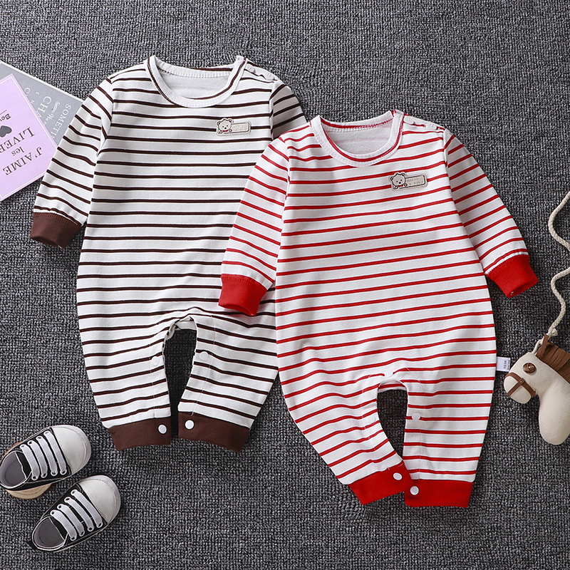 Spring Autumn Baby clothers   Rompers   1 to 18M Kids Newborn Infant Cotton Jumpsuit Baby Boy Girl Clothing