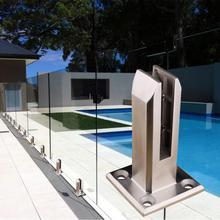 цена на Stainless Steel Glass Pool Fence Clip For Swimming Pools Balcony Garden Deck Ground Handrail Accessories