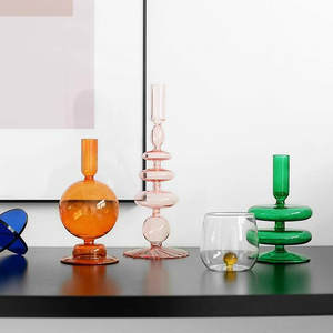 Candle-Holders Centerpieces Glass Party-Table Home-Decor Housewarming Wedding Stick