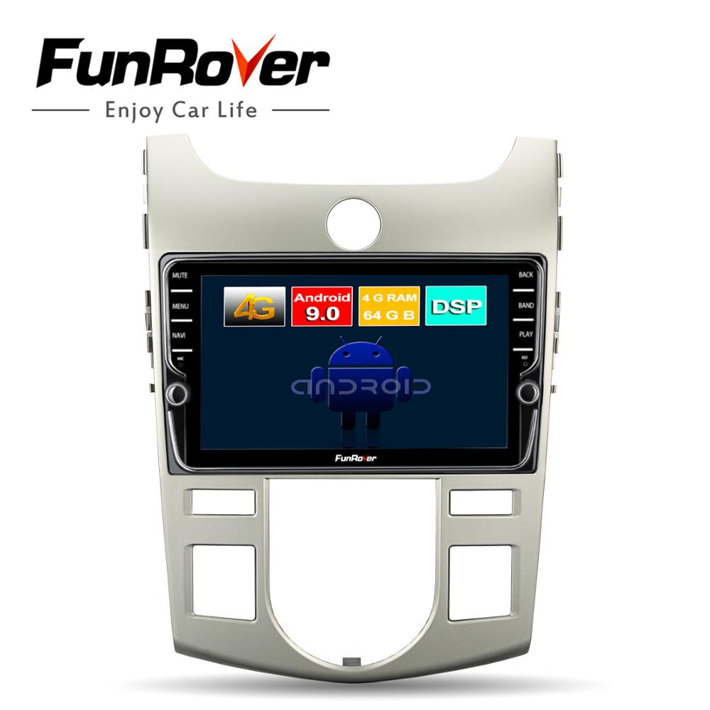 Funrover <font><b>android</b></font> 9.0 <font><b>octa</b></font> <font><b>core</b></font> auto dvd-multimedia-player Für Kia Forte Cerato Koup 2008-2012 radio gps navigation 4G + 64G DSP LTE image