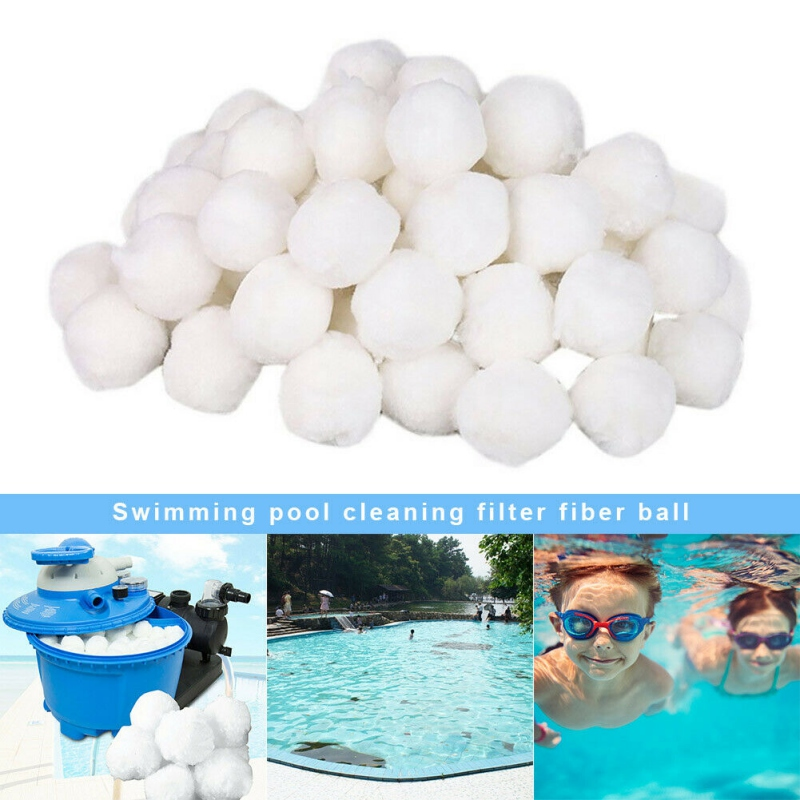 Eco-Friendly Pool Filter Balls Fiber Filter Media Swimming Pool Sand Filters Replacement Cleaning Water Purification Fiber Balls