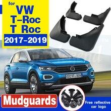 for Volkswagen VW T-Roc TRoc T Roc 2017 2018 2019 Mud Flaps Splash Guards Mudguards Carbon Fiber effect Mudflaps Car Accessories