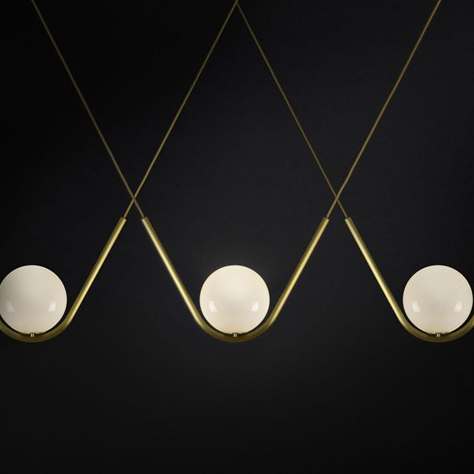 Modern Metal Led Chandelier Cast Iron Round Glass Ball Brass Chandelier For Kitchen Lighting In Northern Europe