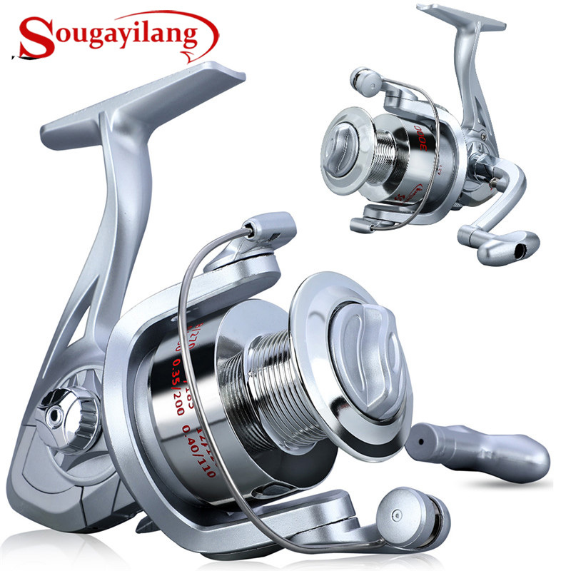 Sougayilang 1000-3000 Fishing Reels Speed 5.2:1 Gear Ratio Right/Left Hand Sea Fishing Reel Saltwater Freshwater Spinning Reel
