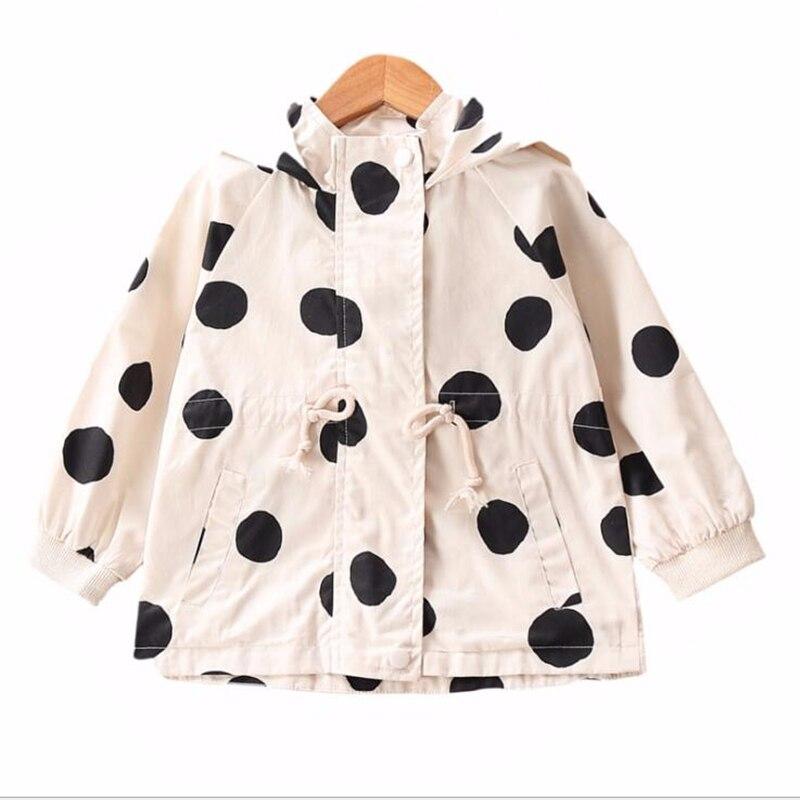 LILIGIRL 2-8 Years Boys Hooded Jacket Long-sleeve Girls Outwear Coat for Children Clothes 2020 New Baby Kids Dot Windbreaker