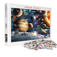 1000 Pieces Jigsaw Puzzles Educational Toys Scenery Space Stars Educational Puzzle Toy for Kids/Adults Christmas Halloween Gift space puzzles