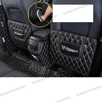 Lsrtw2017 Fiber Leather Car Rear Seat Anti-kick Mat Armrest B Pillar Protector for Chery Tiggo 8 2018 2019 2020 2021 Accessories