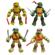 Anime figure action Cartoon turtles model toy figures action Movable doll Kids Decoration toys цена
