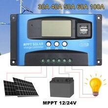 MPPT Điều Hòa Năng Lượng Mặt Trời Dual USB LCD Tự Động Năng Lượng Mặt Trời Tấm Sạc Điều MPPT 60A 30A 40A 50A 100A Năng Lượng Mặt Trời regulador