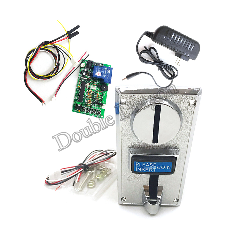 Accept 1-6 Kinds Of Coins Kit Coin Selector Acceptor With JY 15a Timer Control Board Power Plug Advanced Front Entry