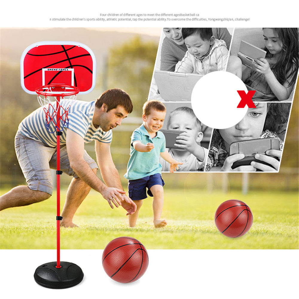 Купить с кэшбэком 1.5m Mini Children's Removable Lift Basketball Stand Indoor Shooting Frame Portable Height Adjustable Basketball Hoop Play Set