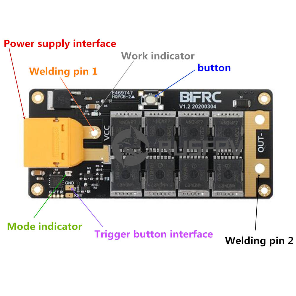 BIFRC DIY Portable 12V Battery Energy Storage Spot Welding PCB Circuit Board for SuperCapacitor 18650 RC High Rate Battery(China)
