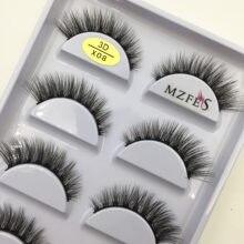 33 estilo 10/50/100 caixas 5 pares natural 3d vison cílios postiços maquiagem falso olhos cílios falso cils compõem ferramentas de beleza atacado