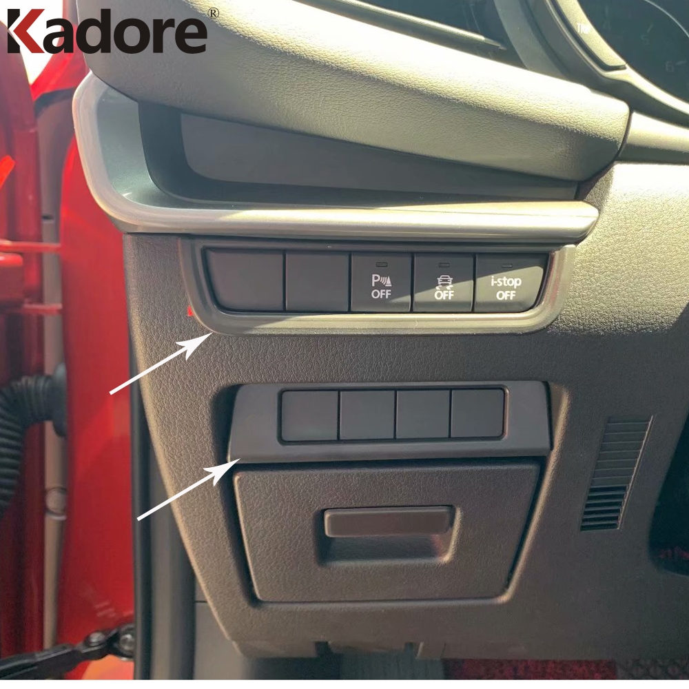 For Mazda 3 Axela 2019 2020 Car Interior Inner Accessories Headlight Switch Button Cover Trim Frame Sticker Styling