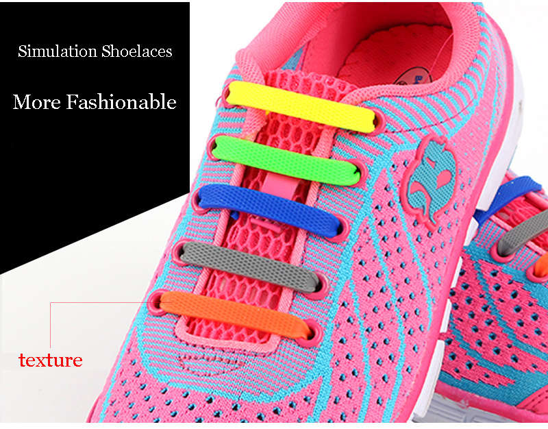 Children Silicone Shoelaces Elastic Shoe Laces Special No Tie Shoelace Men Women Lacing Rubber Kids Sneakers Quick Shoe Lace (9)
