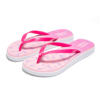 Womens Summer Casual Slip-on Shoes Lightweight Anti-slip Hard-wearing Slippers Beach Swimming Walking Indoor T-tied Flip Flops