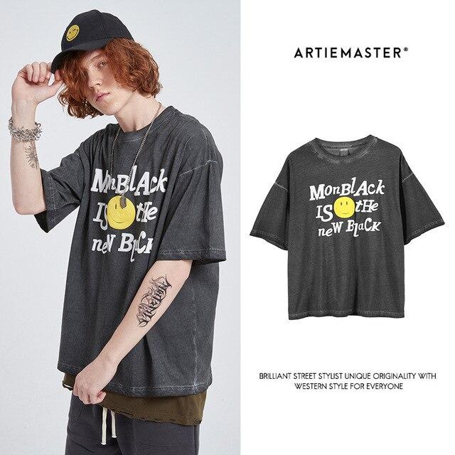Vintage noir mode Original coton hommes T-shirt Punk été hauts Streetwear Hip Hop surdimensionné métallica