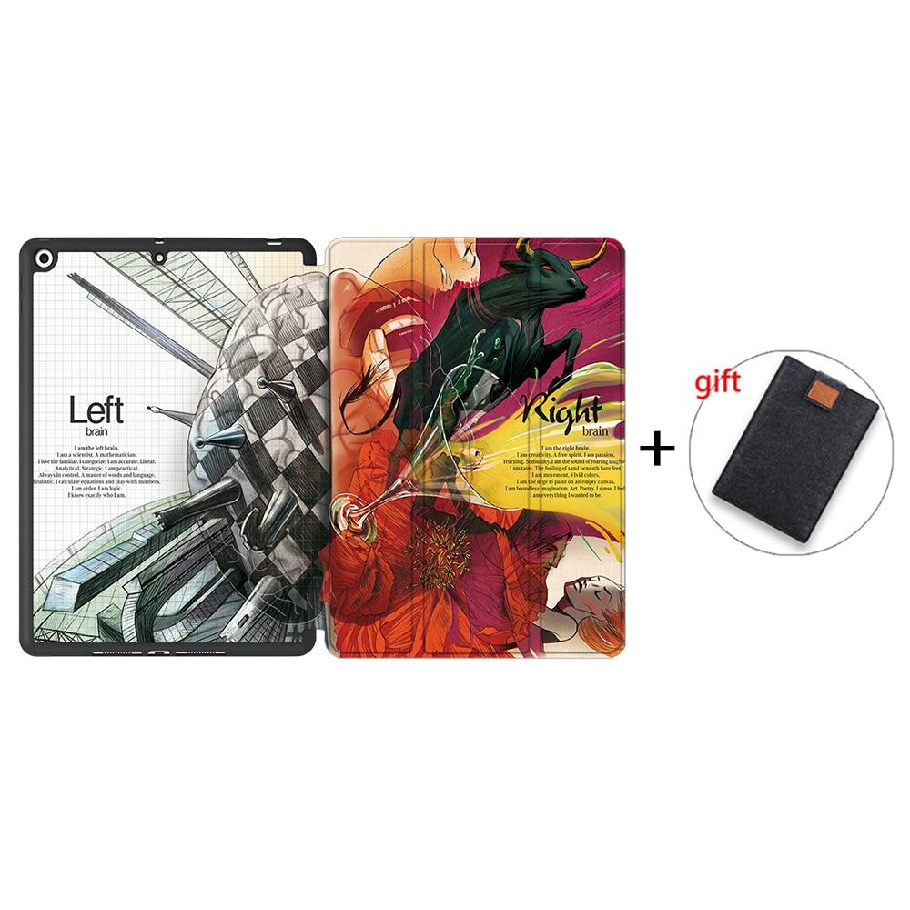 IPBC05 Black MTT Tablet Case For iPad 10 2 inch 7th 8th Generation 2020 Soft TPU PU Leather