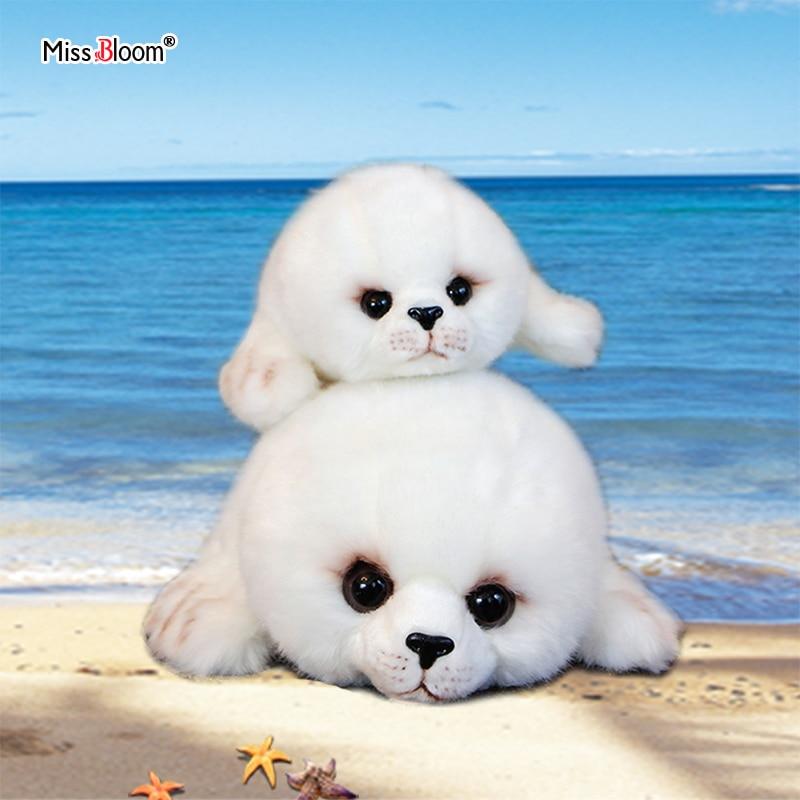 Dropshipping Soft Cute Seals Plush Toy Sea World Animal Sea Lion Plush Stuffed Doll Big Eyes Baby Birthday Gift for Kids Girls