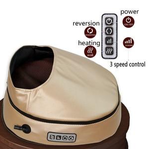 Image 3 - مدلك كهربائي للقدم آلة تدليك الأسطوانة موضة الجلود مدلك للقدم الخلفي الأشعة تحت الحمراء مع التدفئة شياتسو العجن