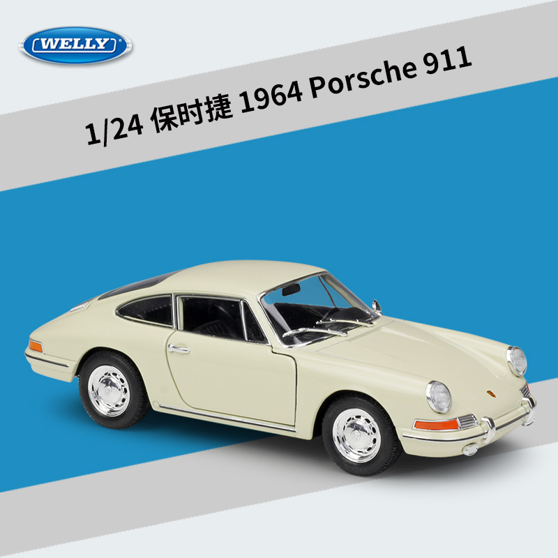 Welly 1:24 Porsche 1964 Porsche 911 Alloy Car Model Diecasts & Toy Vehicles Collect Gifts Non-remote Control Type Transport Toy