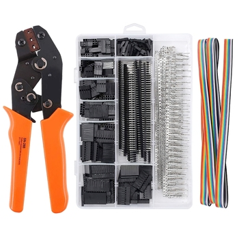 crimping tool set crimp tools wire crimping tool kit ferrule crimping plier tools 1200pcs wire ferrule terminals kit 0 25 10mm² 1550Pcs SN-28B Dupont Crimping Tool Pliers Wired Terminal Connector Ferrule Crimper Wire Hand Tool Set Terminals Clamp Kit Tools