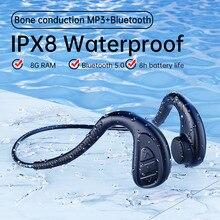 Cuffie da nuoto cuffie a conduzione ossea auricolari wireless Bluetooth con 8G di RAM non In Ear IPX8 impermeabili per Xiaomi Huawei