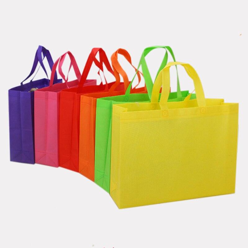 Vogvigo Foldable Shopping Bags Fabric Tote Bag Handbag Reusable Folding Grocery Nylon Tote Bag Solid Cloth Bag Nylon Bag