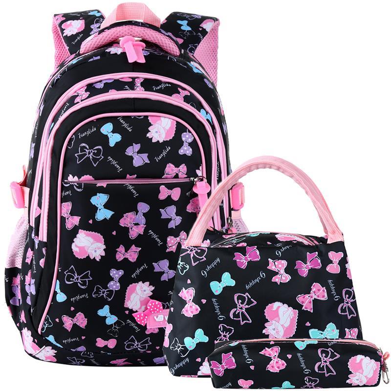 Vbiger 3-in-1 Cute Children Kids Girls Student School Bags Backpack Bagpack Book Bags Set For Teenage Girls Kids Teenagers