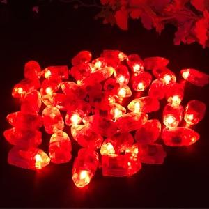 Image 3 - 100 Cái/lốc LED Flash Đèn Bóng Đèn Lồng Đèn Giấy Bóng Trắng Vàng Hoặc Nhiều Màu Cho Tiệc Cưới