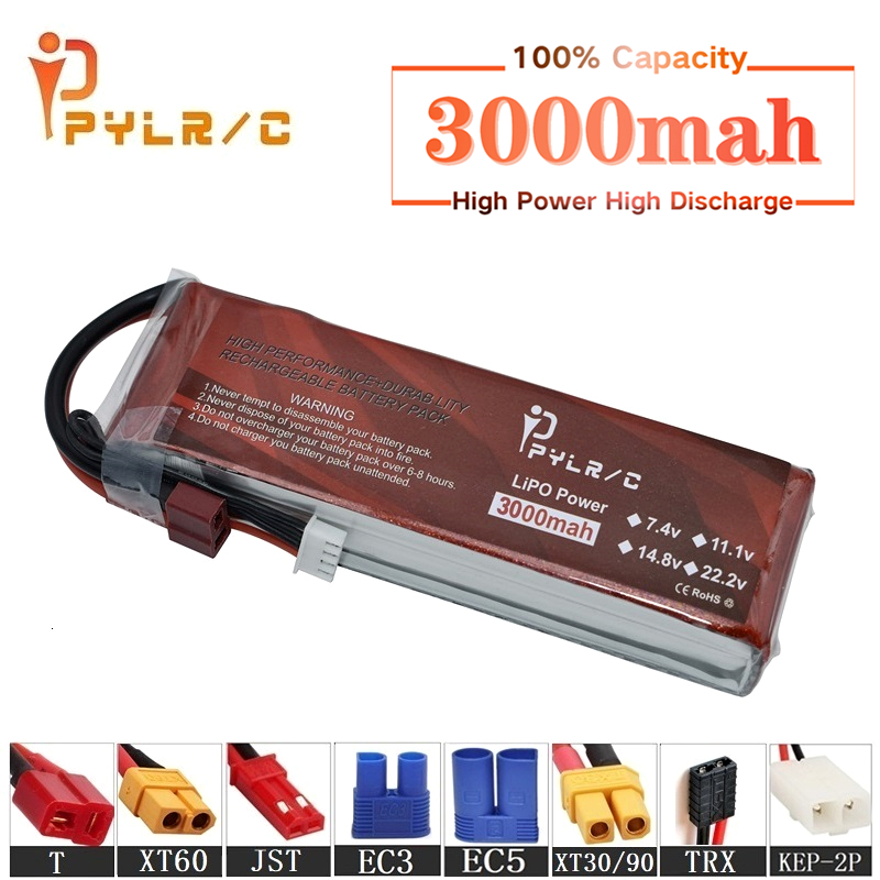 High Rate 7.4v 3000mAh Lipo Battery For RC Helicopter Parts 2s Lithium battery 7.4v 35C RC Cars Airplanes Drones Battery T/XT60(China)