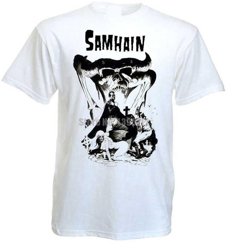 Samhain винтажный постер мужские ретро рубашки крутые футболки хлопковая рубашка модные рубашки Mardi Gras одежда Akmiwt