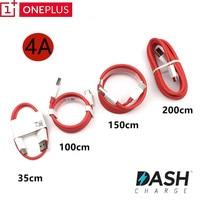 Oneplus-Cable de carga rápida tipo c para salpicadero de oneplus 6t 6 5t 5 3t 3, Cable de carga rápida tipo C, 150cm/200cm, 4A, rojo, redondo, tipo c, USB